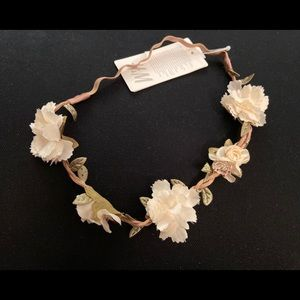 White floral flower crown festival boho party